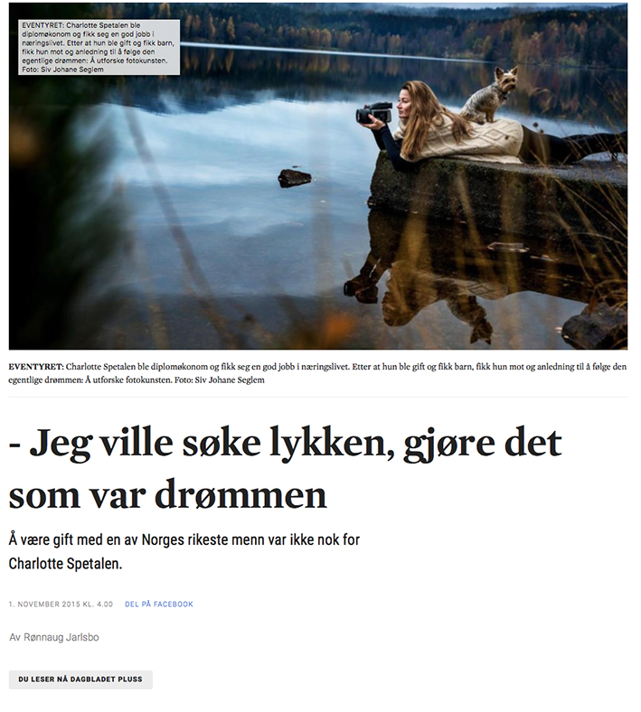 Dagbladets artikkel i november 2015
