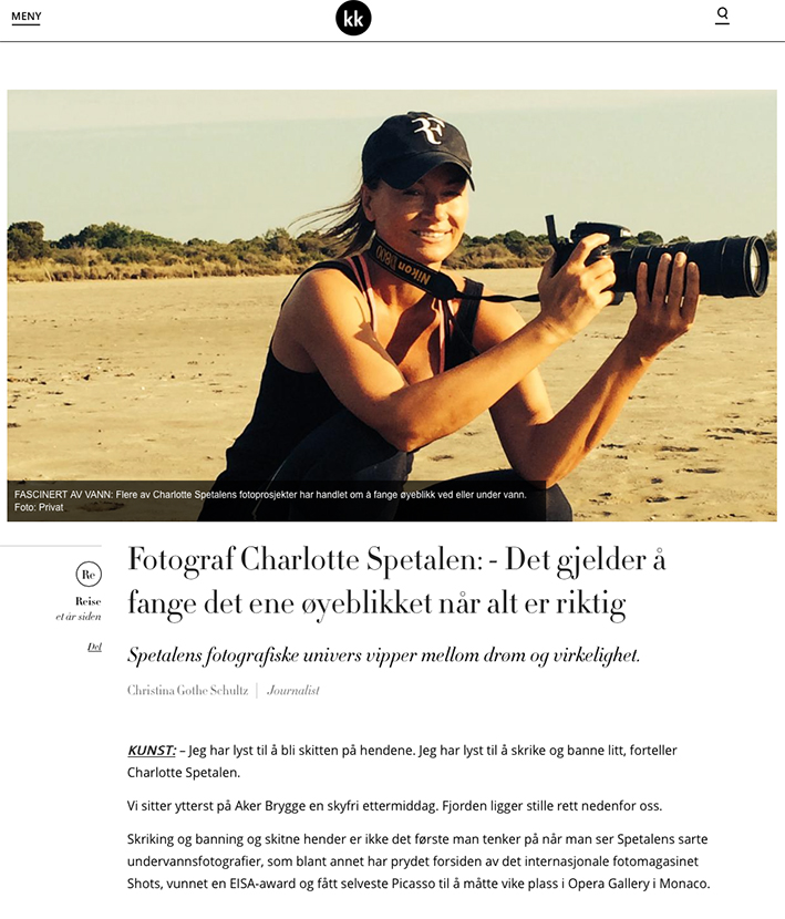 Intervju i KK under reise og fotografering i Frankrike